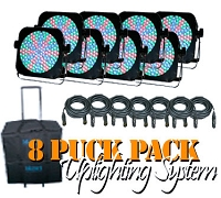 Blizzard Puck RGB Pack (8) with bags and cables