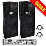 Peavey PV215 (2) with IPR3000 Amp Package