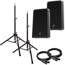 EV ELX115P Powered Speaker Package w/stands & cables