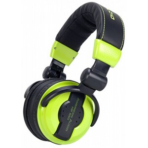 American Audio HP550 Professional Headphones-Lime